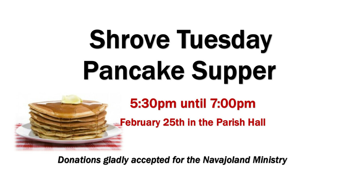Pancake Supper 2020